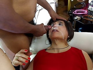 in gangbang in red with mistress anal three lady