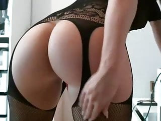 Ass with toy in her pussy...