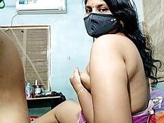 Desi husband licking  his wife's armpit