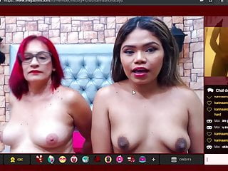 Massive cumshot for mother and daughter