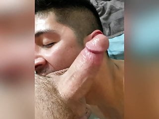 Cute colombian beefy guy having threesome
