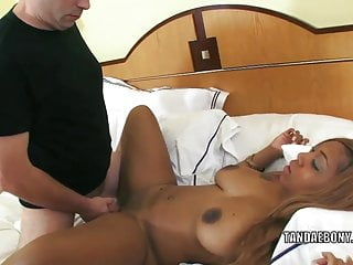 Busty swinger cocoa gets her ebony pussy pounded...