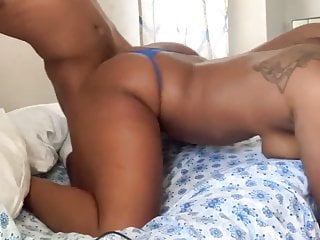 Ebony slut with a monstrous ass is enjoying obliterated doggystyle