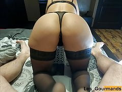 MILF in lingerie gets doggystyle & cum filled her cunt