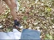Russian couple outdoor