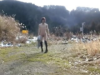 Mature forced outdoor pissing...