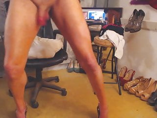 Sexy sissy riley girl shows you her hard...