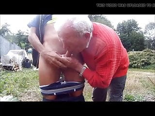 grandpa red in cock suckin Old