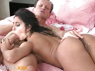ORGASMS Tanned hungarian beauty loves to ride his cock