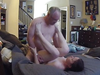 Young woman sucking and fucking old man...