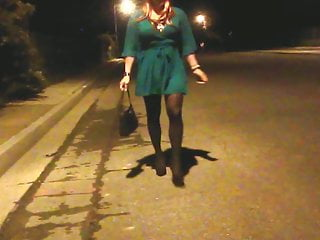 Misty crossdresser in her St. Patrick's Day outfit