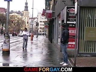 Gay homosexual picks up and fucks hetero boy