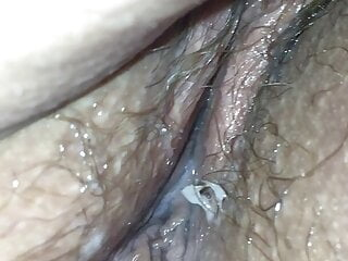 Pissing on bbw wife