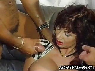 Mom cum on tits...