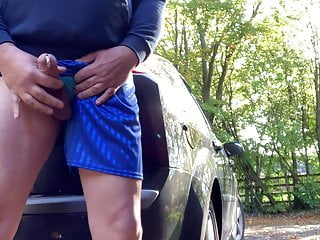 Wanking by the road
