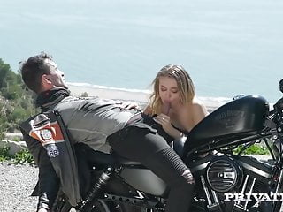 Private.com - Hot Biker Chick Natalia Starr Gets Cum Facial!