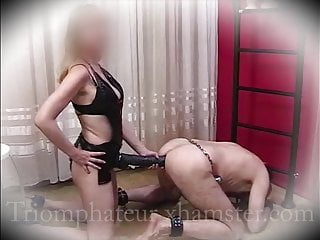 Bdsm Strapon Femdom video: Strapon fuck, fisting, ass lock