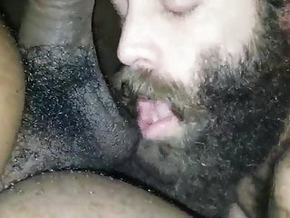 Hairy daddy eating bear...