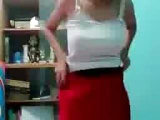 Slut showing off her perfect body and playing...