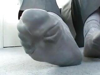 Hot and sweaty grey dress socks...