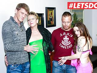 MILFs with Hot LETSDOEIT - Sex Foursome Gorgeous German