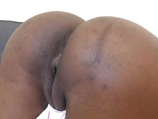 Ebony fucked in doggystyle and creampied...