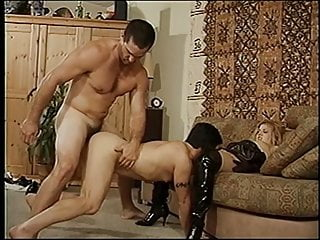 Stud gets his sucked couch...