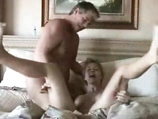 WIFE FUCKS HUBBIE AND DEN GETS CUMMED ON