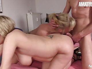 AmateurEuro – Hot Amateur FFM Sex (Alexandra F. & Teresa R.)