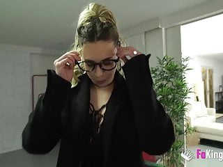 Lola teases and bangs a young rookie at his first casting