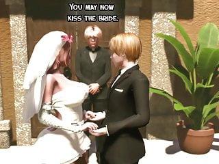 Shemale wedding day fucks the bride futanari...