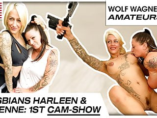 Hot lesbo cam sex with Harleen & Adrienne Kiss! WOLF WAGNER