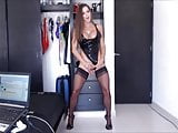 Felicia - Posing in Nylons and show Ass