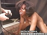 Ebony Caren Has A Screaming Orgasm On Dirty D's Sybian!