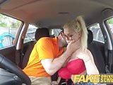 Fake Driving School Busty blonde learner fucks instructor