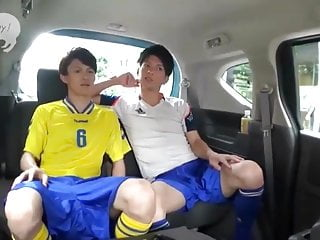 Cute Japanese Soccer Buddies car sex