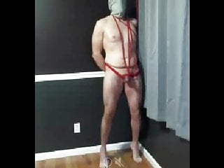 and slave tortured Bound sex