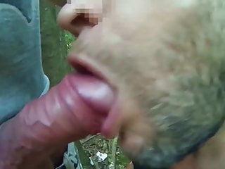 Cocksucker in the woods