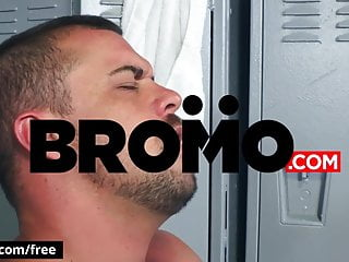 Jock sniffer pounded hard and raw in locker room – BROMO