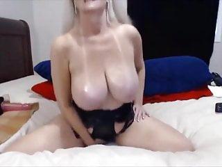 Amazing granny boobs on webcam...
