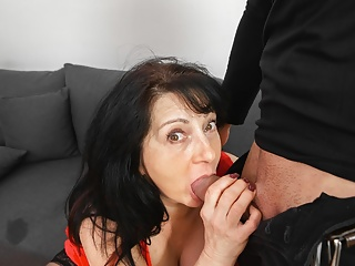 MATURE4K. Passionate hot milf woman gives a bj