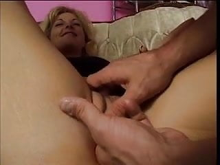Flirtatious blonde gets shaved cunt fucked
