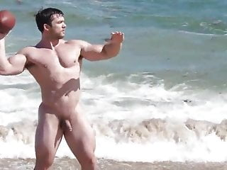 Muscle males in nature s garb Beach
