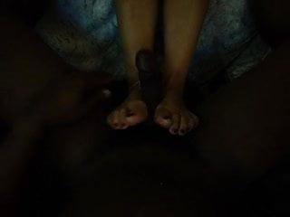Barefoot footjob