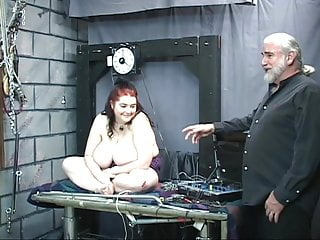 Fat ass slave shows off her enormous sagging...