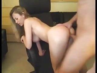 Crazy big-titted girl on webcam