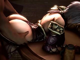 Ivy from behind and titfuck soul calibur 3d...