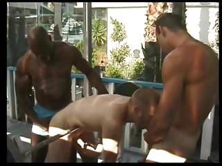 Me my trainer and his bodybuilder friend...