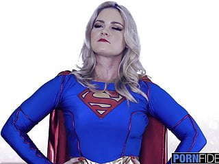 Pornfidelity supergirl opens her ass for big dicked...