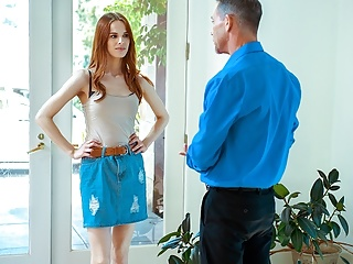 DADDY4K. After quarrel with partner beautiful ginger convinces